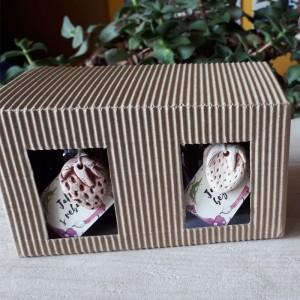 Dárková krabička pro dvě skleničky